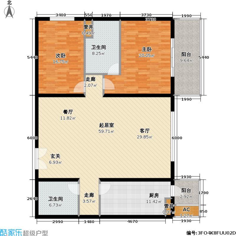 国展・国际152.83㎡2室1厅2卫1厨户型