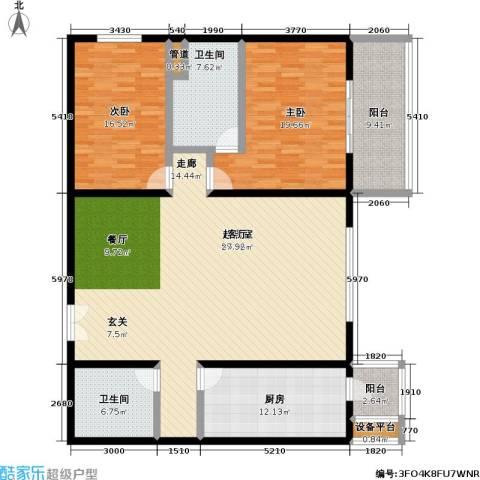 国展家园2室0厅2卫1厨153.00㎡户型图