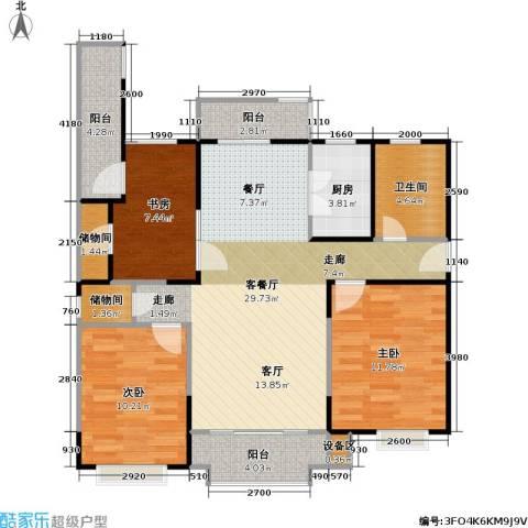 金铭福邸四期3室1厅1卫1厨95.00㎡户型图