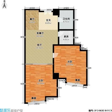 金隆基大厦2室1厅1卫1厨110.00㎡户型图
