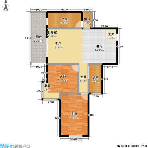 鼎晟国际3室0厅0卫1厨97.02㎡户型图