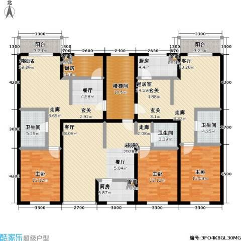 丰卉家园3室0厅3卫3厨233.00㎡户型图