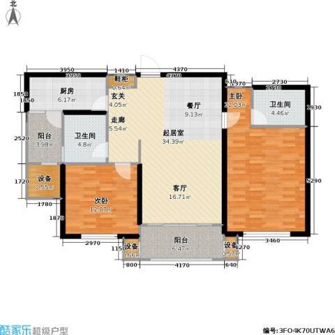 东明家园2室0厅2卫1厨106.00㎡户型图