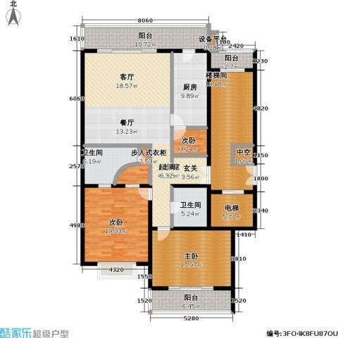 国展家园3室0厅2卫1厨176.00㎡户型图