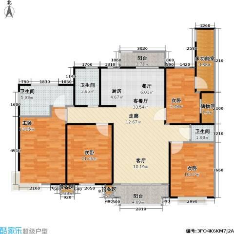 金铭福邸四期4室1厅3卫0厨110.00㎡户型图