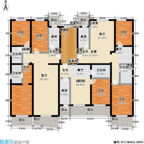 丰卉家园6室0厅4卫3厨350.00㎡户型图