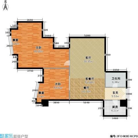 金隆基大厦2室1厅1卫1厨128.00㎡户型图