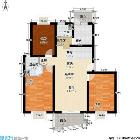 上海映象一期3室0厅2卫1厨115.00㎡户型图