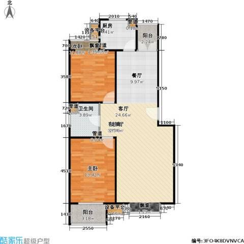翠海明筑2室1厅1卫1厨107.00㎡户型图