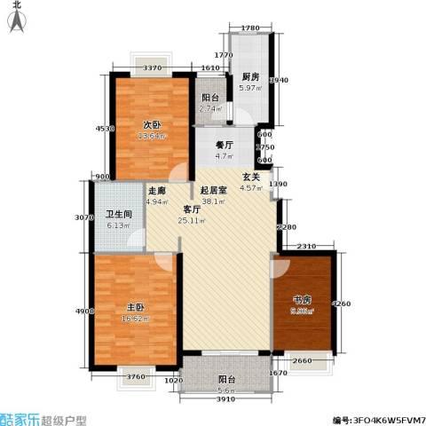 申润・江涛苑3室0厅1卫1厨110.00㎡户型图