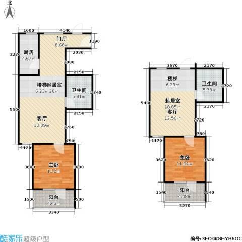 悦园(悦莱苑)2室0厅2卫1厨119.00㎡户型图