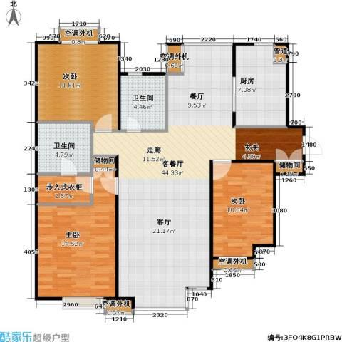 燕莎・后3室1厅2卫1厨148.00㎡户型图