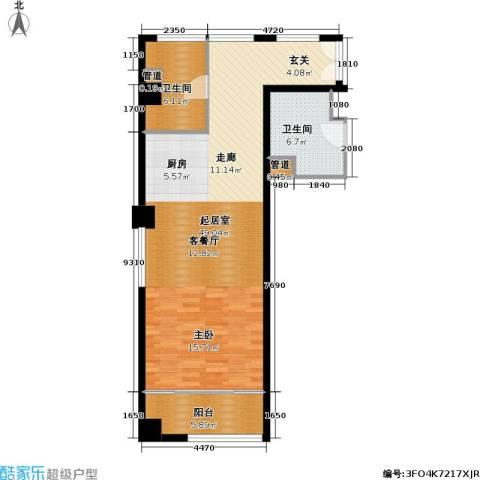 香榭水岸四期公寓2卫0厨96.00㎡户型图