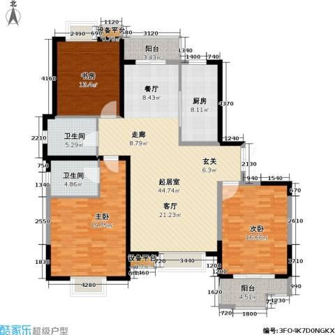 汇景公寓3室0厅2卫1厨171.00㎡户型图