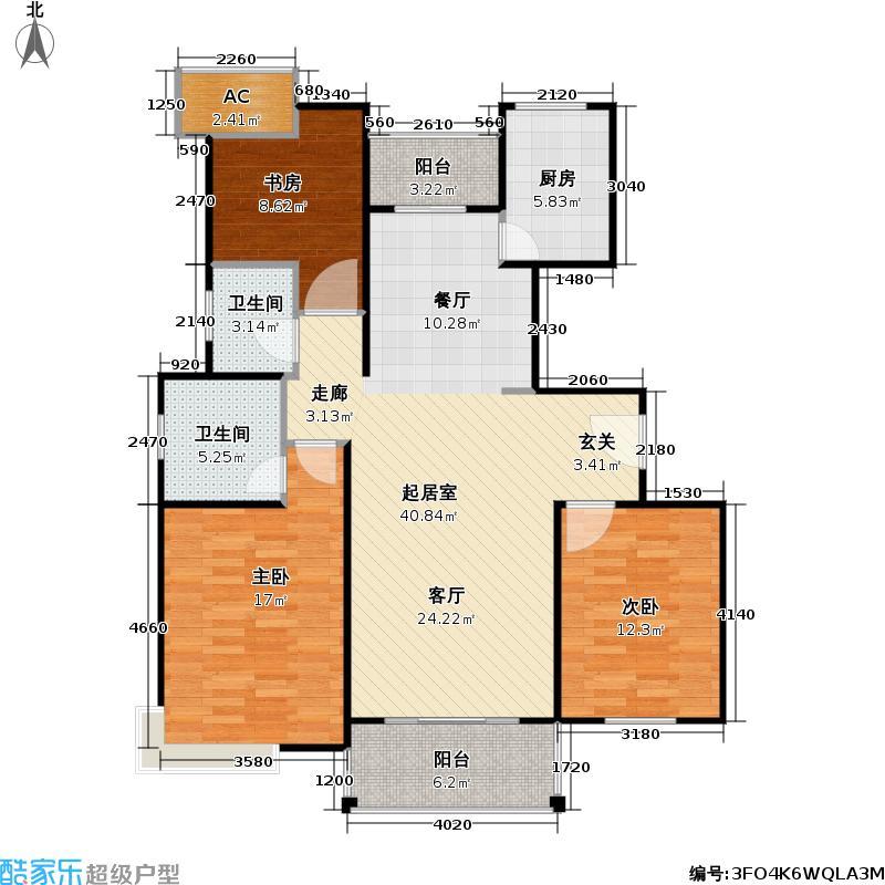 春申玫瑰苑113.00㎡房型: 三房; 面积段: 113 -140 平方米; 户型