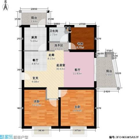 上海映象一期3室0厅1卫1厨115.00㎡户型图