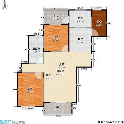 桃源兴城苑(二期)东块3室0厅1卫1厨105.26㎡户型图