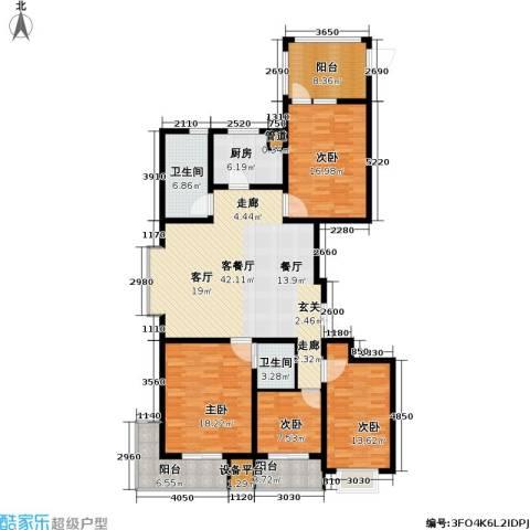 盛世华庭4室1厅2卫1厨152.00㎡户型图