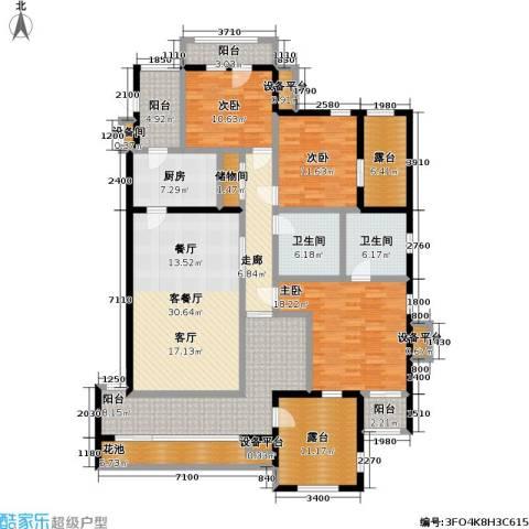 金科・帕提欧洋房3室1厅2卫1厨152.97㎡户型图