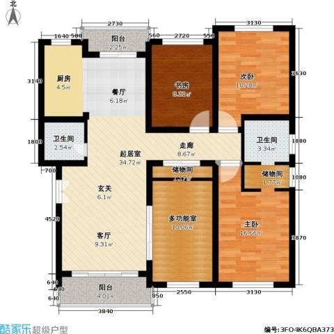 联鑫虹桥苑一期3室0厅1卫0厨130.00㎡户型图