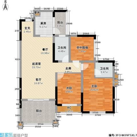 金科10年城 金科十年城西区2室0厅2卫1厨96.17㎡户型图