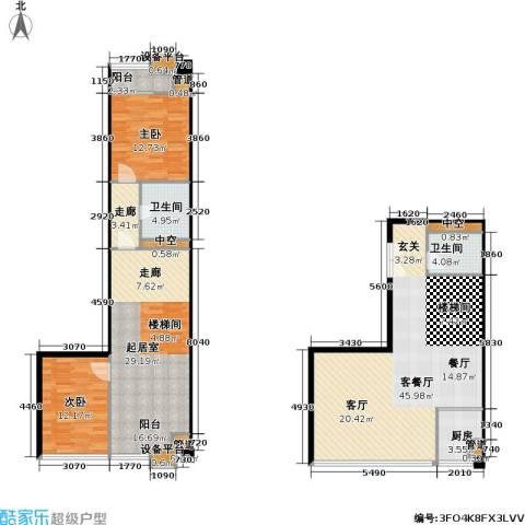 东晶国际2室1厅2卫1厨143.00㎡户型图