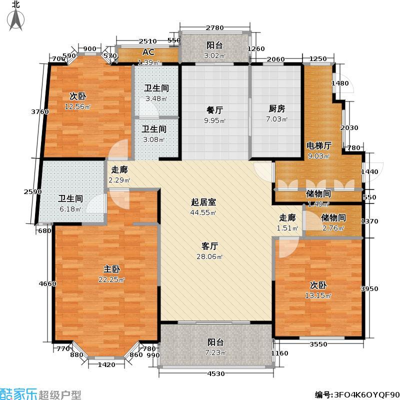 飘鹰东方花园二期139.00㎡房型: 三房; 面积段: 139 -154 平方米; 户型