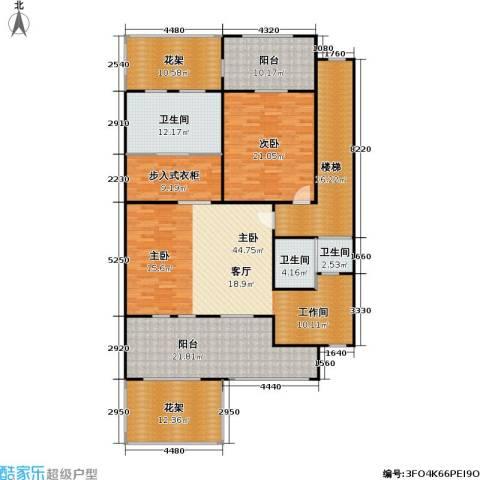 莫奈的花园2室0厅3卫0厨165.01㎡户型图