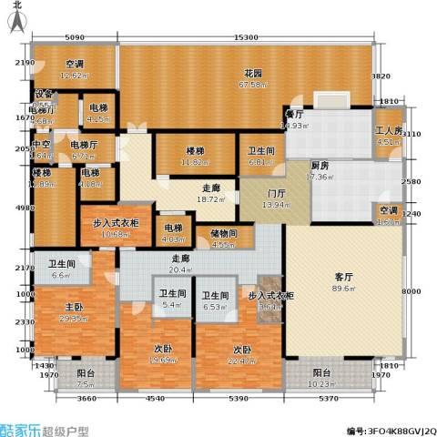 融泽府3室1厅4卫1厨331.00㎡户型图