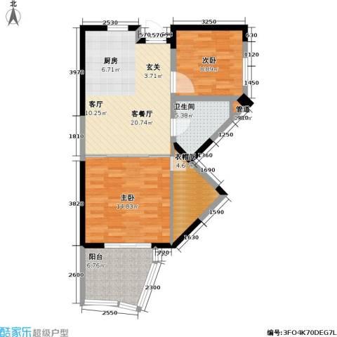平海・逸龙湾2室1厅1卫0厨86.00㎡户型图