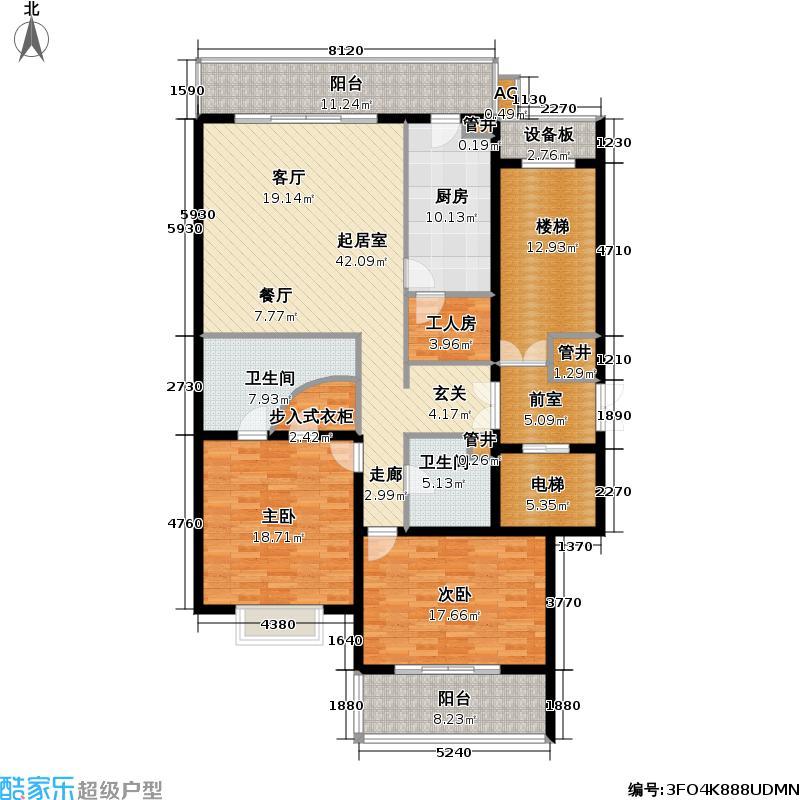 国展・国际176.45㎡2室-1厅-2卫-1厨户型