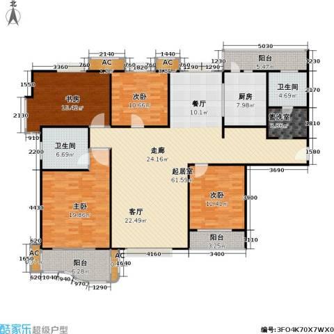 天际花园三期4室0厅2卫1厨170.00㎡户型图