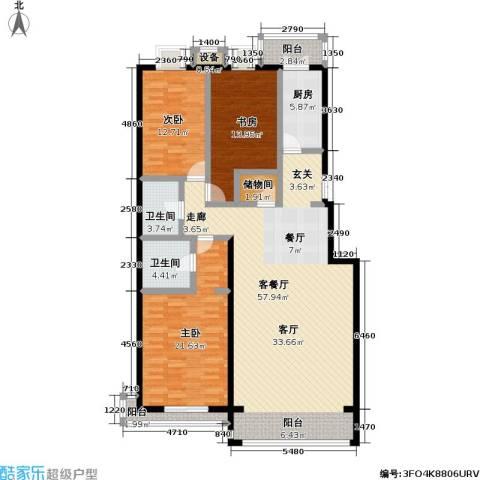 未来城・益宸嘉苑3室1厅2卫1厨147.00㎡户型图