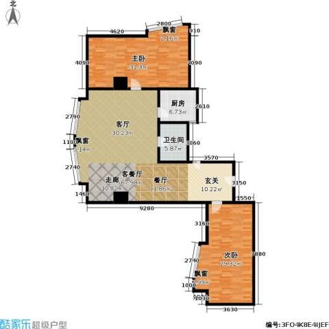 金隆基大厦2室1厅1卫1厨153.00㎡户型图