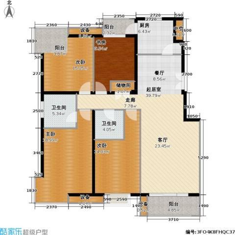 上海沙龙4室0厅2卫1厨148.00㎡户型图