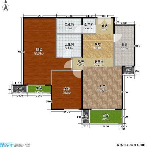 星源国际公寓2室0厅2卫1厨116.00㎡户型图