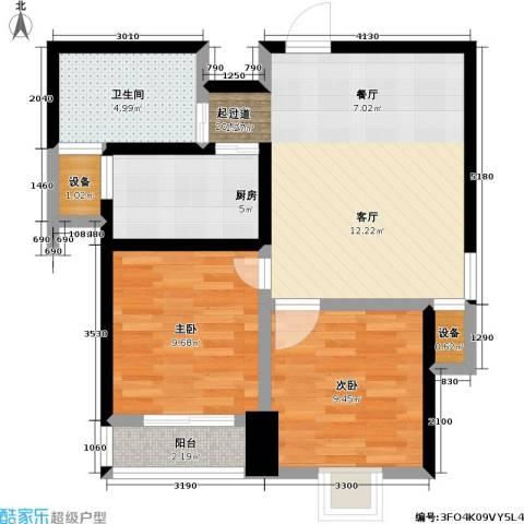 翠园世家2室0厅1卫1厨61.00㎡户型图
