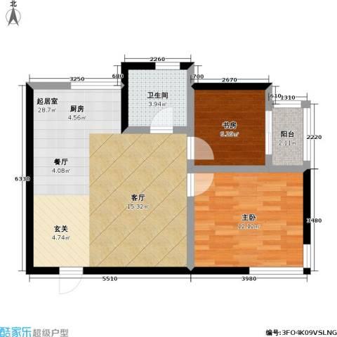 翠园世家2室0厅1卫0厨61.00㎡户型图