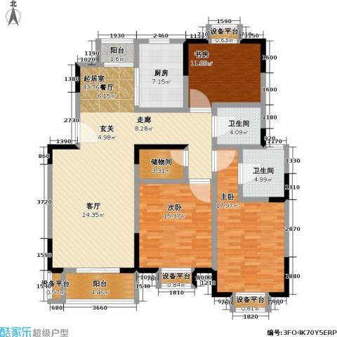 浦江风景苑一期3室0厅2卫1厨170.00㎡户型图