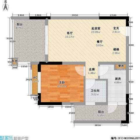 金科10年城 金科十年城西区1室0厅1卫1厨83.00㎡户型图