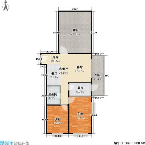 兴琦家园2室1厅1卫1厨96.00㎡户型图