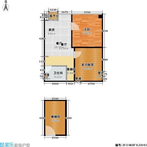 东晶国际1室1厅1卫0厨73.00㎡户型图