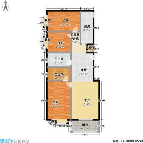鼎晟国际3室0厅2卫1厨129.12㎡户型图