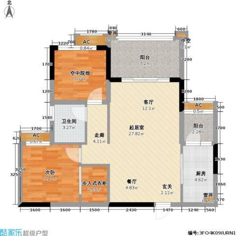 金科10年城 金科十年城西区1室0厅1卫1厨66.71㎡户型图