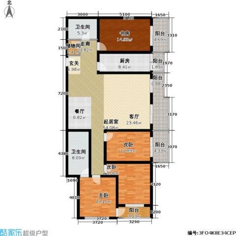 文津世家4室0厅2卫1厨215.00㎡户型图
