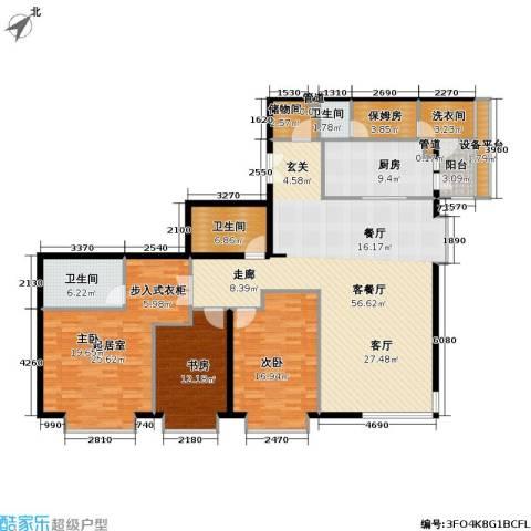 富力爱丁堡公馆2室1厅3卫1厨198.00㎡户型图