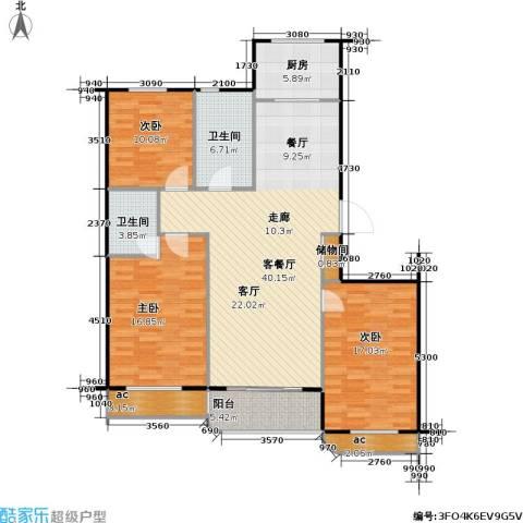 印象江南3室1厅2卫1厨139.00㎡户型图