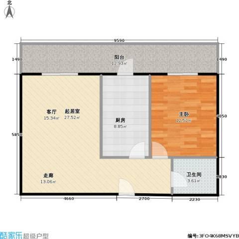 利海公寓1室0厅1卫1厨70.00㎡户型图
