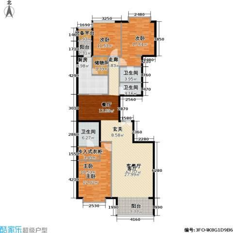 富力爱丁堡公馆3室1厅3卫1厨195.00㎡户型图