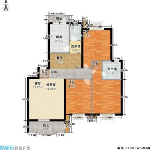 虹桥阳光翠庭3室0厅2卫1厨162.00㎡户型图